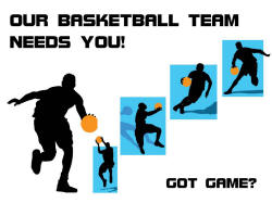 Basketball poster for schools