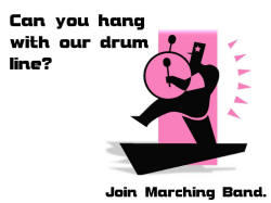Drum line/marching band poster