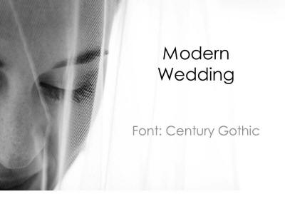 modern wedding presentation template