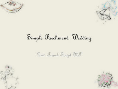 simple parchment wedding presentation