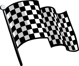 Black  White Clip  Auto Racing on Black And White Racing Flag Clip Art